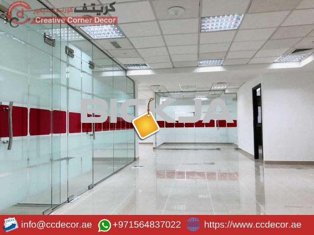 Glass Partitions and Wooden Partitions Works Abu Dhabi. - 3/4