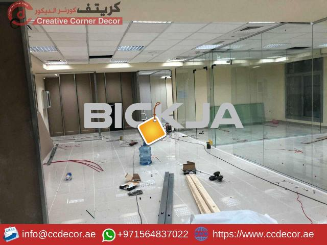 Glass Partitions and Wooden Partitions Works Abu Dhabi. - 4/4