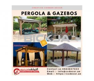 Design, Fabrication and Installation Wooden Pergola in Dubai, Abu Dhabi, UAE