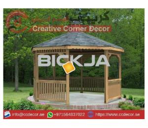 Wooden Gazebo Manufacturer company | Creative Wooden Gazebo | Gazebo Contractor Uae