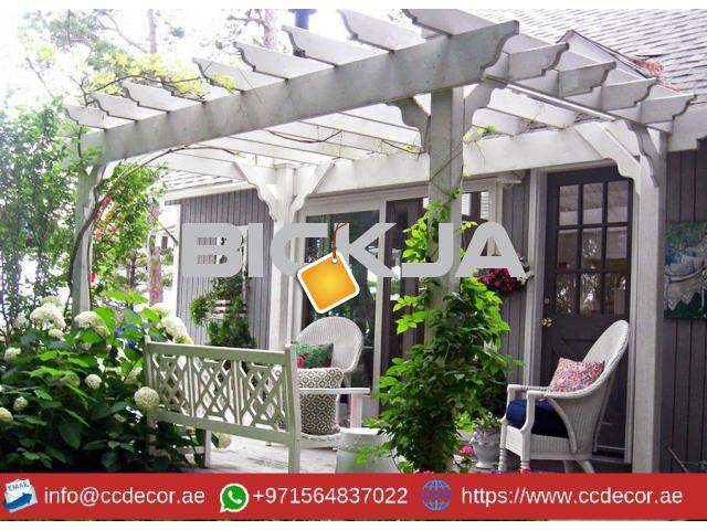 Modern Pergola Designs Attached to the house in Dubai - 1/4