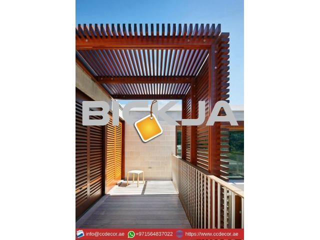 Modern Pergola Designs Attached to the house in Dubai - 2/4