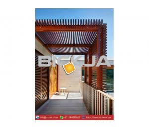 Modern Pergola Designs Attached to the house in Dubai