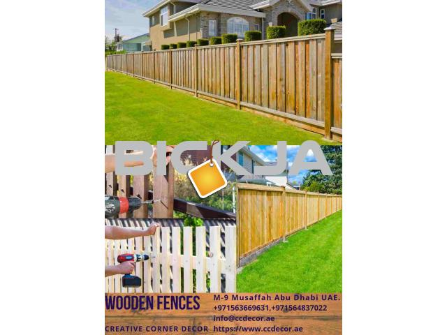 Wooden Fences at front porch ideas in Dubai - 1/4