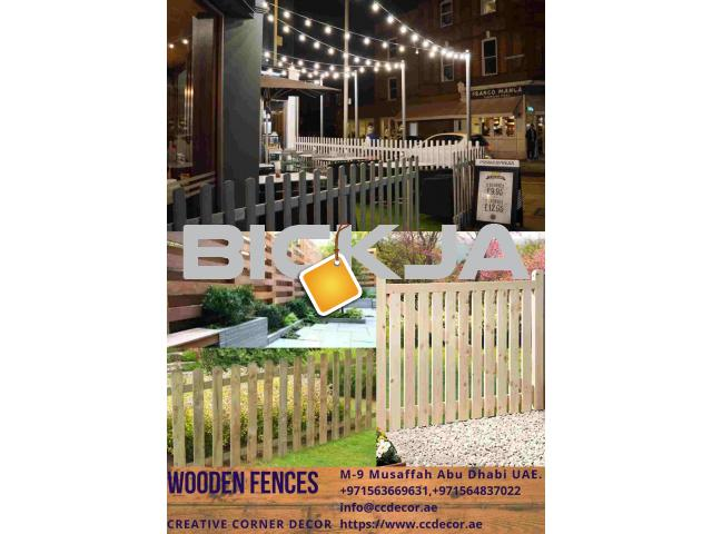 Wooden Fences at front porch ideas in Dubai - 3/4