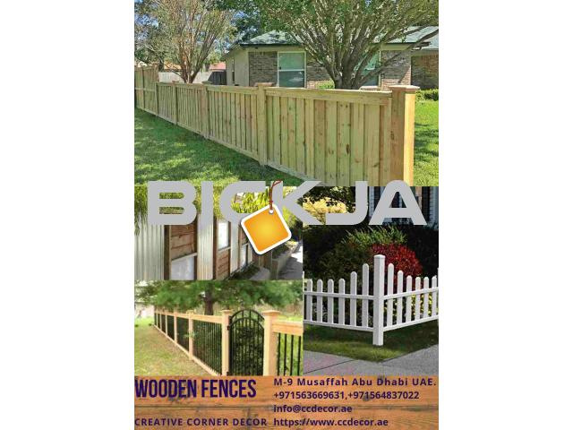 Wooden Fences at front porch ideas in Dubai - 4/4