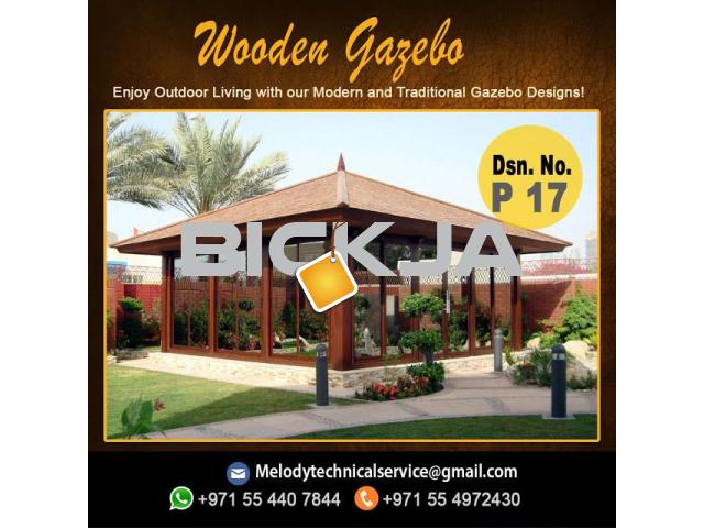 Wooden Gazebo In Jumeirah | Gazebo in Dubai | Garden Gazebo  Al Furjan - 2/4