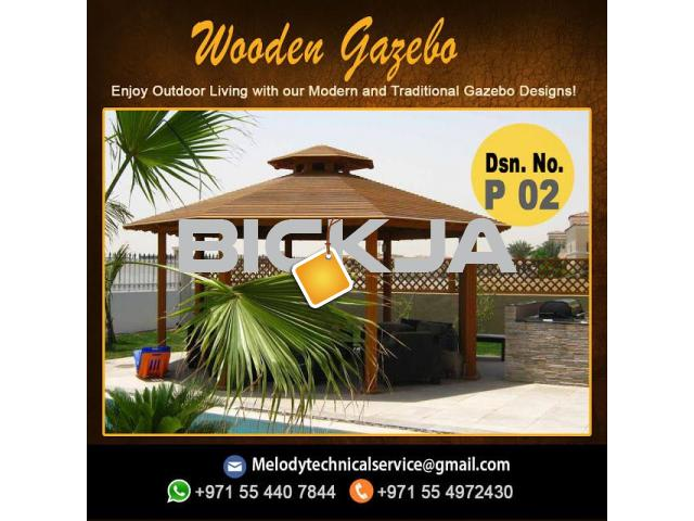 Wooden Gazebo In Jumeirah | Gazebo in Dubai | Garden Gazebo  Al Furjan - 3/4