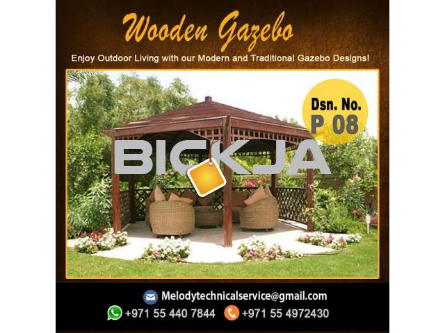 Wooden Gazebo In Jumeirah | Gazebo in Dubai | Garden Gazebo  Al Furjan - 4/4