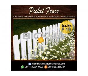 Garden Fence in Al Barsha | Wooden Fence in Dubai | Picket Fence Emirates Hills