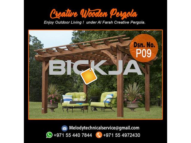 Pergola Company in Dubai | Wooden Pergola | Outdoor Pergola In UAE - 1/4