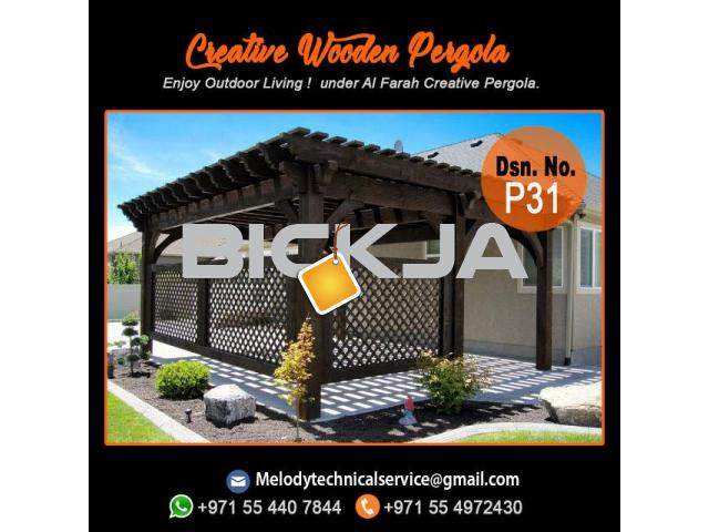 Pergola Company in Dubai | Wooden Pergola | Outdoor Pergola In UAE - 2/4