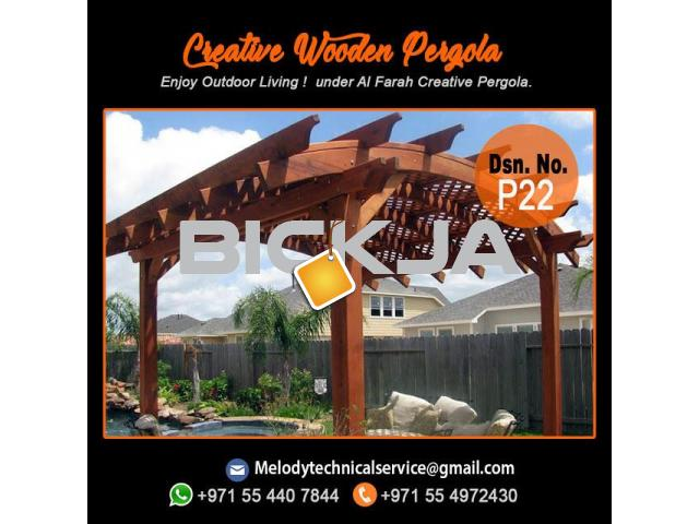 Pergola Company in Dubai | Wooden Pergola | Outdoor Pergola In UAE - 3/4