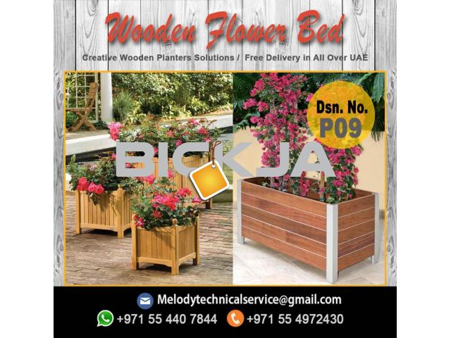 Garden Planters Box Suppliers | Wooden Planters in Dubai | Outdoor Planters - 1/2