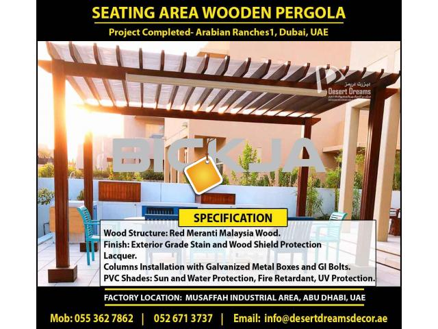 Outdoor Wooden Structure Dubai | Garden Pergola Dubai | Wall Attached Pergola | Wooden Pergola Dubai - 1/4