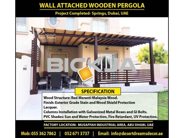 Outdoor Wooden Structure Dubai | Garden Pergola Dubai | Wall Attached Pergola | Wooden Pergola Dubai - 2/4