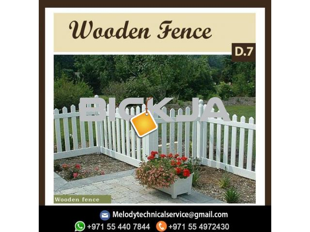 Wooden Fence Dubai | Picket Fence In UAE | Garden Fence In Jumeirah - 1/4
