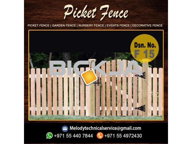Wooden Fence Dubai | Picket Fence In UAE | Garden Fence In Jumeirah - 2/4