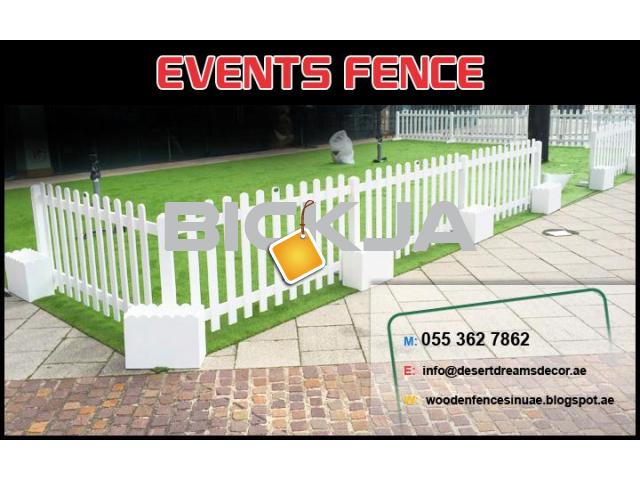 Events Fences Dubai | Free Standing Fences Uae | Natural Wood Fences | White Picket Fences Dubai. - 1/4