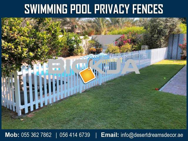Events Fences Dubai | Free Standing Fences Uae | Natural Wood Fences | White Picket Fences Dubai. - 3/4