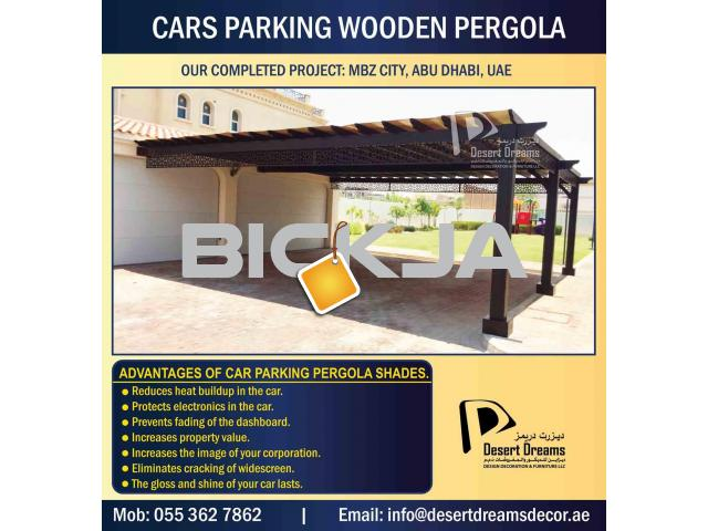 Car Parking Wooden Shades in UAE | Car Parking Pergola | Villa Parking Pergola Uae | Pergola Dubai. - 2/4