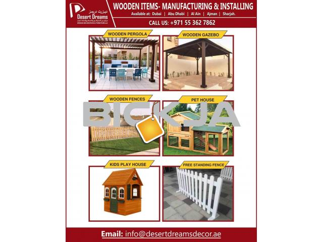 Nursery Wooden Furniture Manufacturing in UAE | Wooden Items | Wooden House | Kids Play Fences Uae. - 1/4