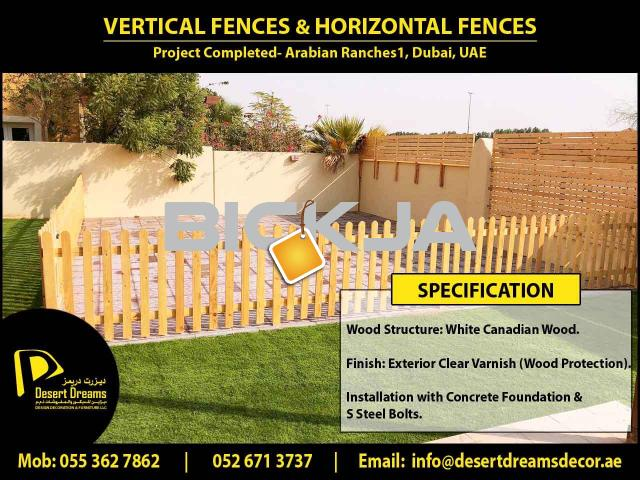 Events Fences Abu Dhabi | White Picket Fences | Garden Privacy Fences Dubai | Fences Design Uae. - 1/4