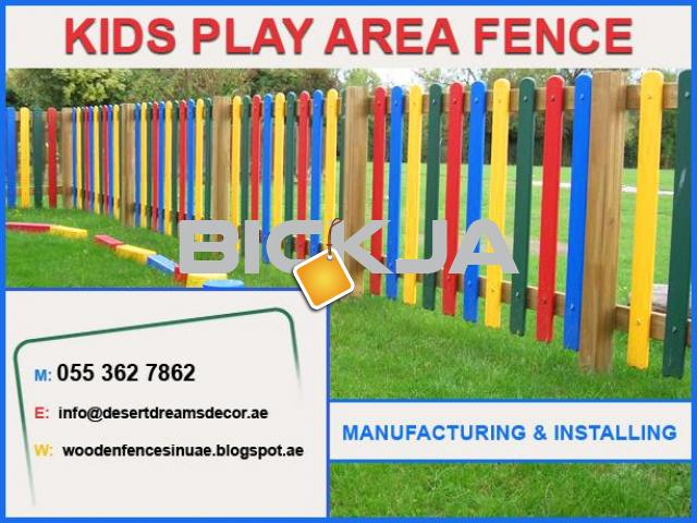 Swimming Pool Privacy Fence Dubai | White Picket Fence | Kids Play Area Fence Uae. - 2/4
