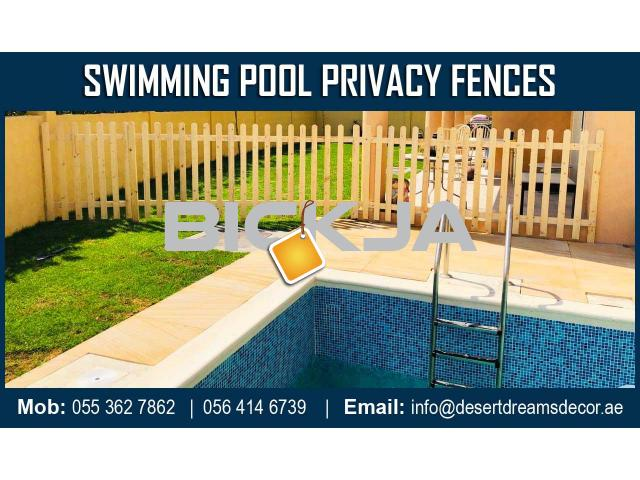 Swimming Pool Privacy Fence Dubai | White Picket Fence | Kids Play Area Fence Uae. - 4/4