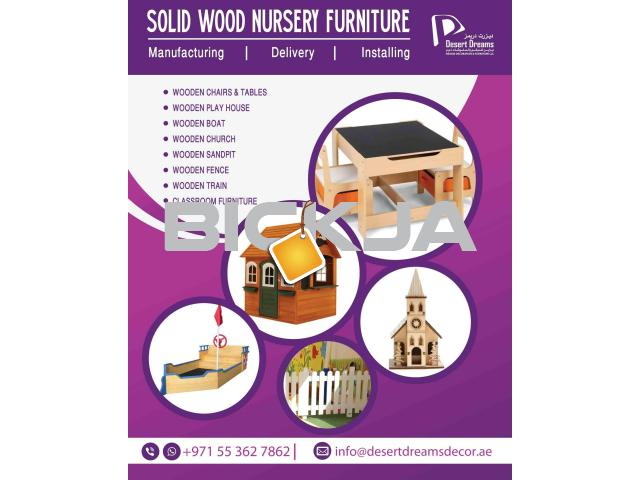 Kids Class Room Furniture Supplier in Uae | Wooden Chairs | Wooden Play House | Wooden Fences Dubai. - 1/4