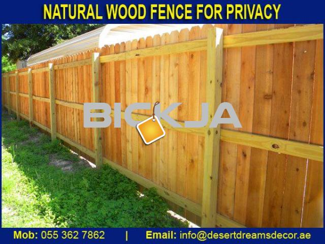 Manufacture, Supply and Installing Wooden Fences in UAE | Garden Privacy Fence | Events Fence Dubai. - 2/4