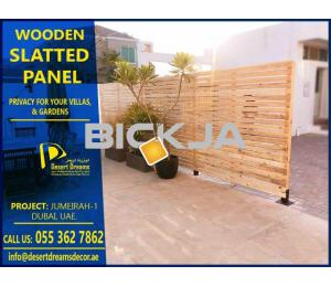 Wooden Slatted Fences Dubai | Manufacture and Installing Slatted Fences Dubai.