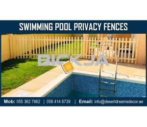Swimming Pool Privacy Fences Dubai | Events Fences | Stadium Wooden Fences Suppliers in UAE.