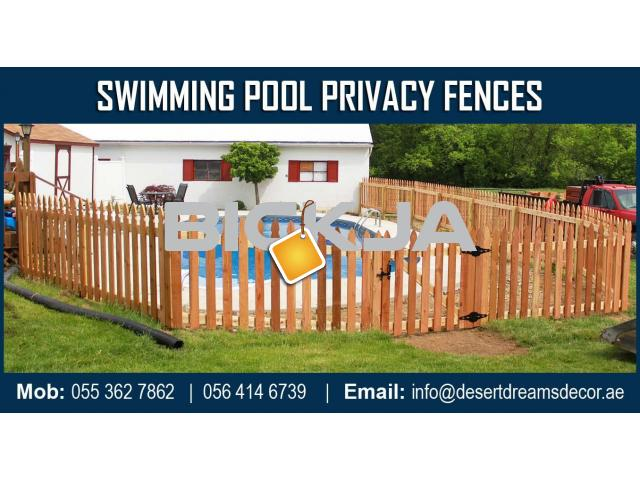 Swimming Pool Privacy Fences Dubai | Events Fences | Stadium Wooden Fences Suppliers in UAE. - 4/4