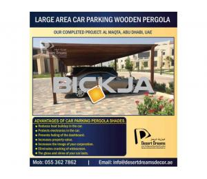 Car Parking Wooden Pergola Dubai | Car Parking Wooden Shades Uae.