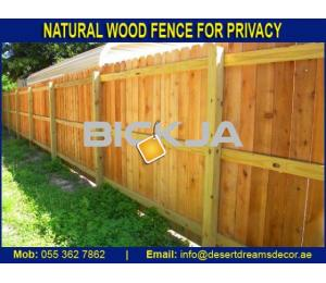 Manufacturing and Installing Wooden Fences in UAE.