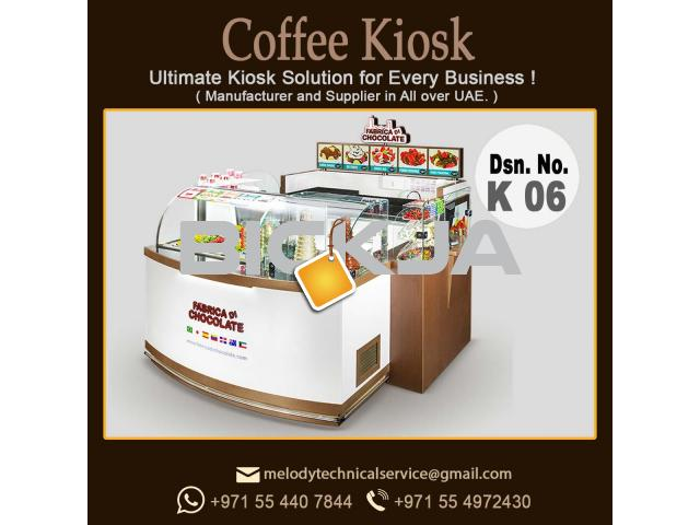Cosmetics Products Kiosk in Dubai | Wooden Kiosk | kiosk Design UAE - 1/2