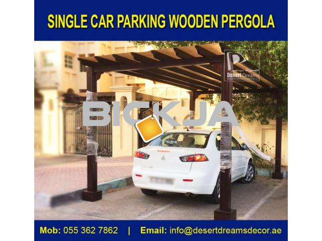 Wooden Car Parking Shades in Dubai, UAE. - 4/4