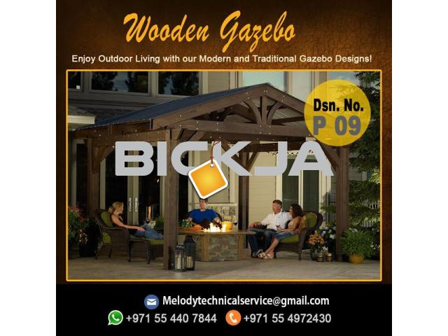 Wooden Gazebo Dubai Meadows | Gazebo in The Springs | Gazebo In Al Furjan - 2/4