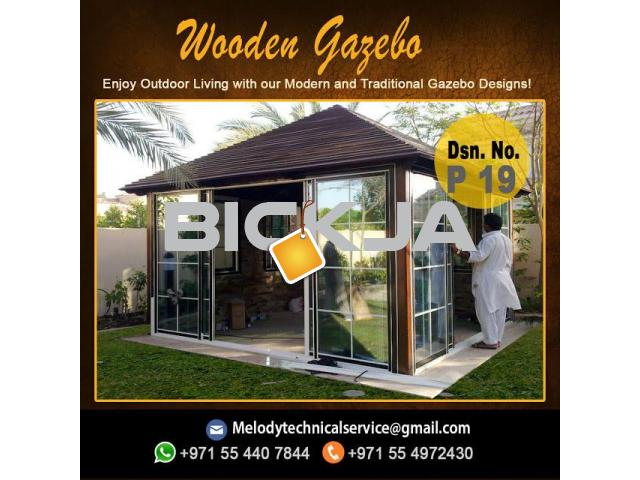 Wooden Gazebo Dubai Meadows | Gazebo in The Springs | Gazebo In Al Furjan - 3/4