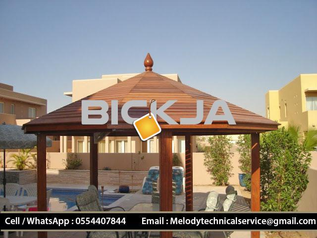 Wooden Gazebo Arabian ranches | Gazebo in Green community | Gazebo Suppliers in Dubai - 1/4
