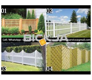 Garden Fence in Al Barsha | Wooden Fence in Dubai | Picket Febce Emirates Hills