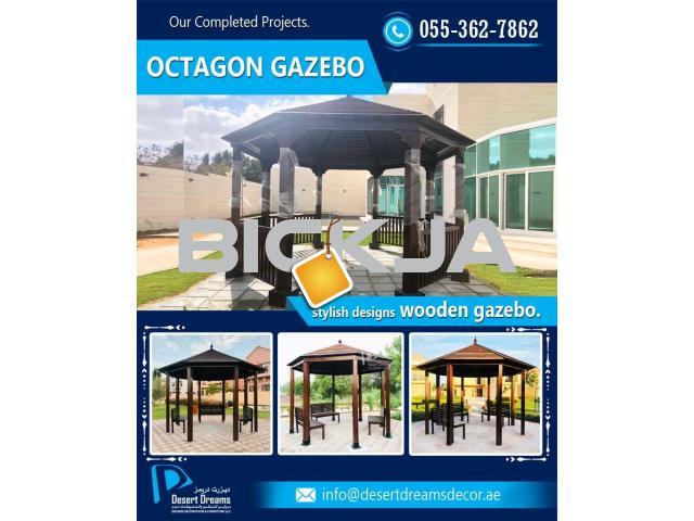 Square Shape Gazebo | Rectangular Shape Gazebo | Octagon and Hexagon Gazebo in UAE. - 1/2
