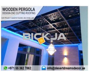 Arabic Wooden Pergola Design Uae | Wooden Pergola Contractors in Dubai.