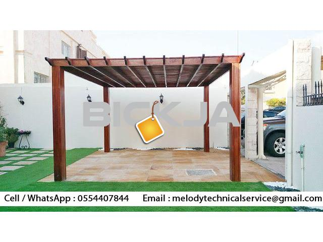 Wooden Pergola In Palm Jumeirah | Pergola Manufacturer Dubai | pergola in Jumeirah Islands - 1/2