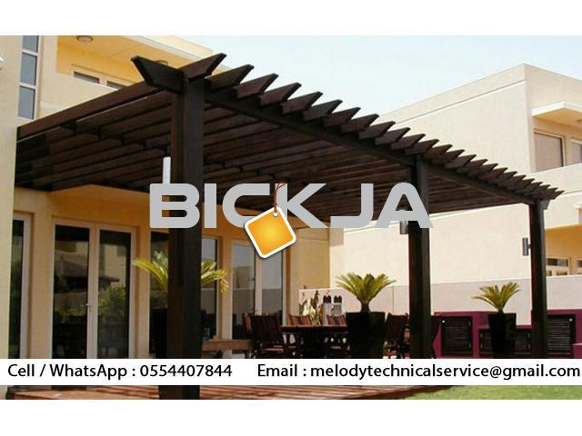 Wooden Pergola In Palm Jumeirah | Pergola Manufacturer Dubai | pergola in Jumeirah Islands - 2/2