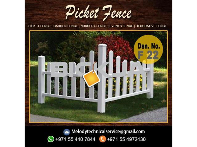 Wooden Fence in Jumeirah Golf Estates | Picket Fence | Garden Garden in Victory Heights - 2/3