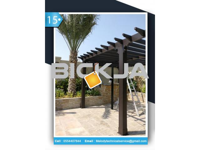 Wooden pergola Dubai Meadows | Pergola in The Springs | Pergola In Al Furjan - 1/4