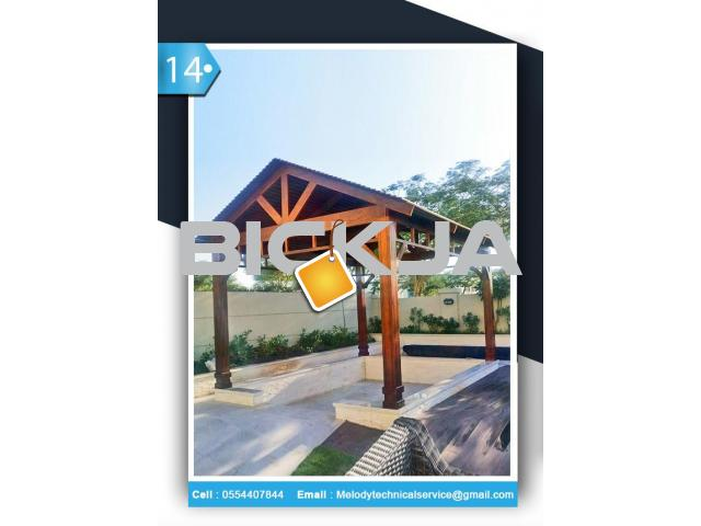 Wooden pergola Dubai Meadows | Pergola in The Springs | Pergola In Al Furjan - 4/4