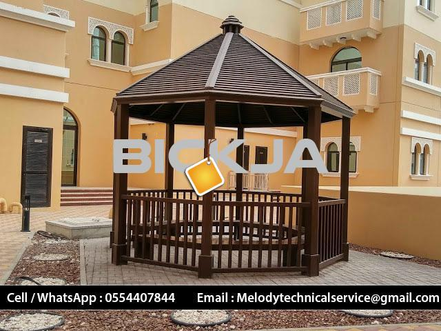 Wooden Gazebo In Palm Jumeirah | Gazebo Manufacturer Dubai | Gazebo in Jumeirah Islands  M - 3/4